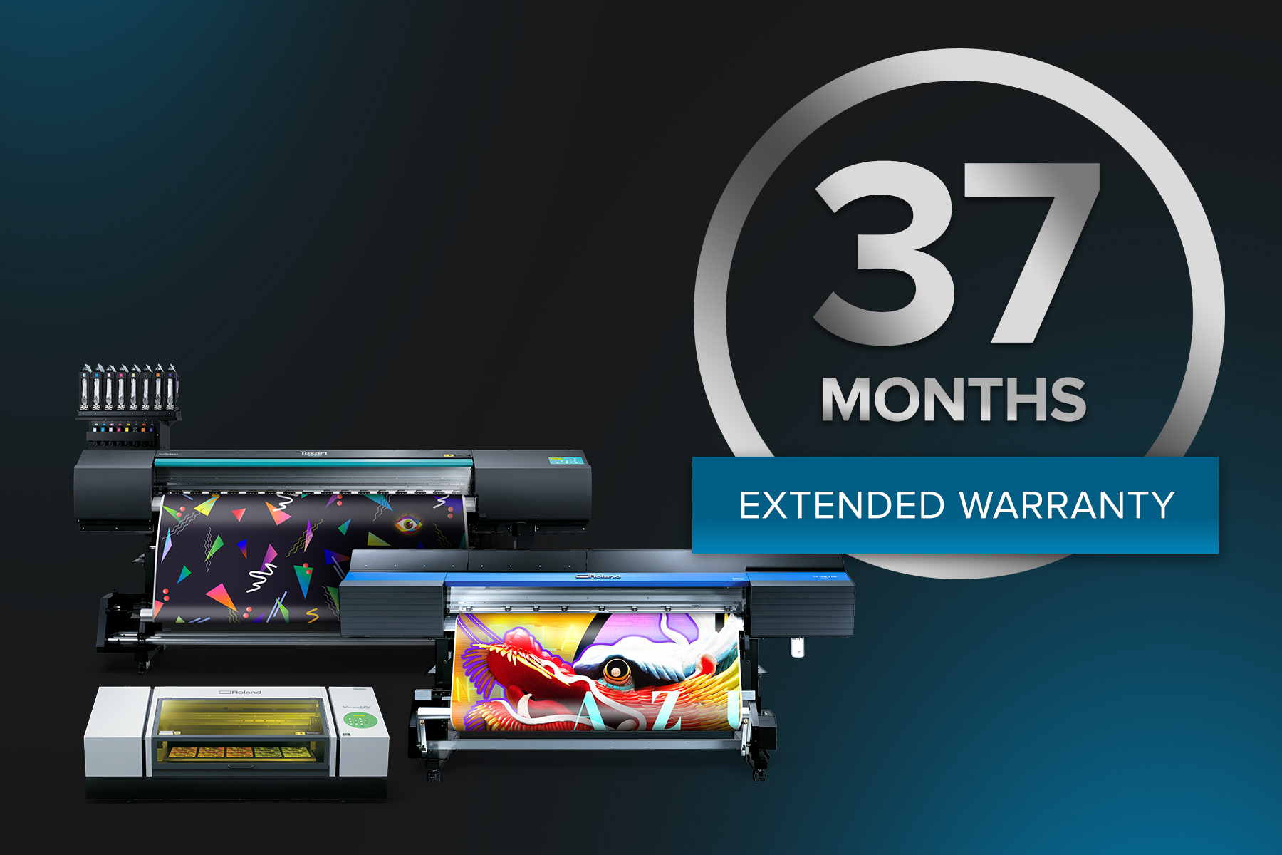 "Roland DGA Announces Launch of New ""37-Month Warranty"