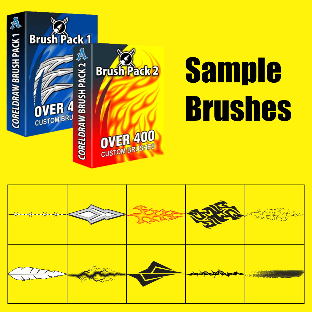 CorelDRAW Brush Pack 1 & 2 Samples