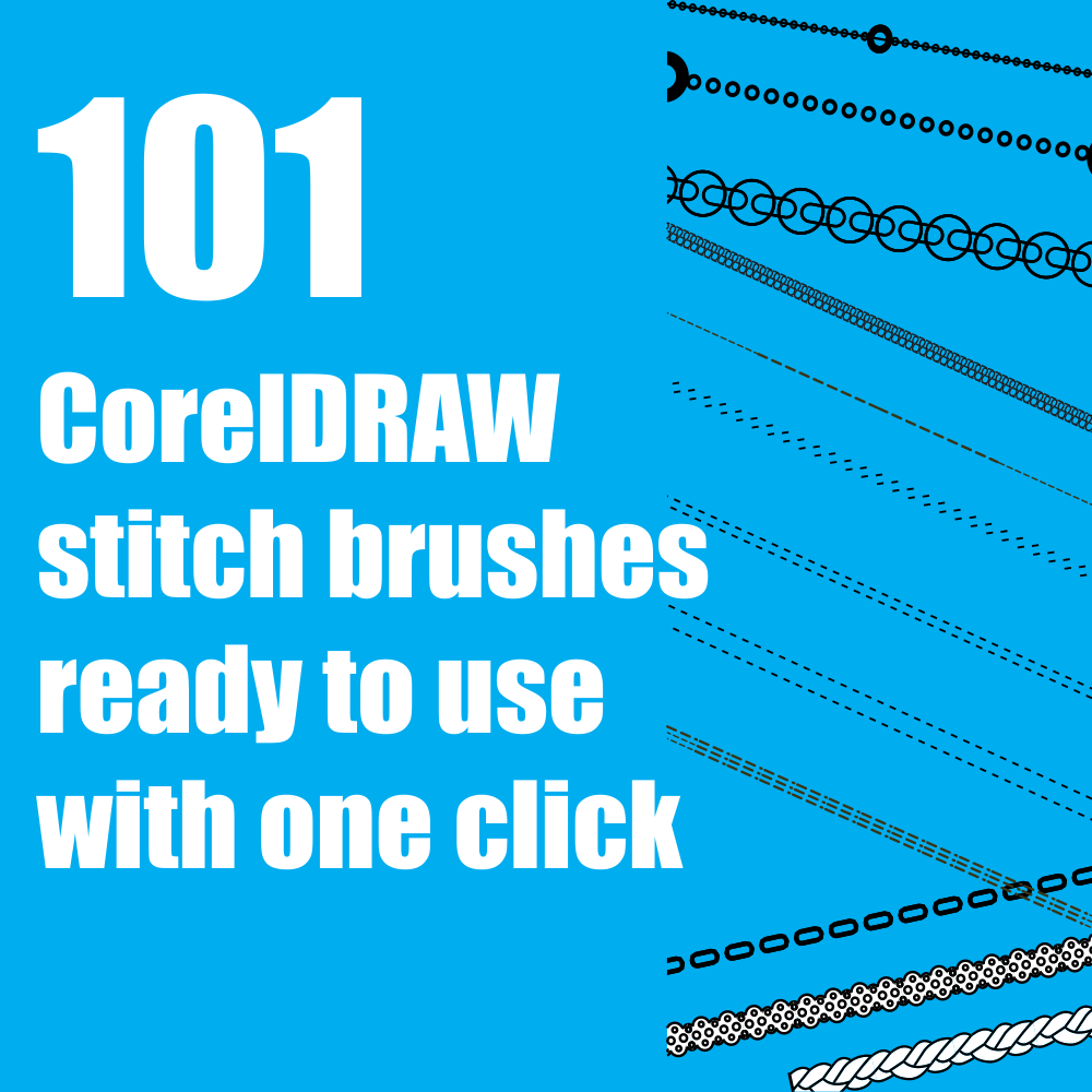 CorelDRAW Stitch Brushes Volume 1
