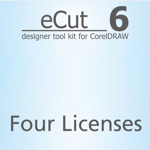 eCut 6.0 Designer Toolkit for CorelDRAW Four Licenses