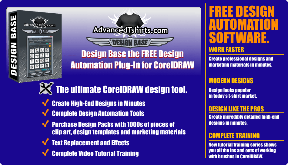 Design Base Free CorelDRAW Automation Plug-In and Artwork Packs ...