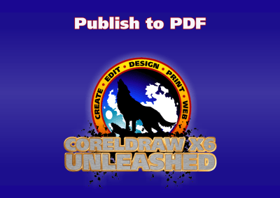Using Publish to PDF Export Feature of CorelDRAW