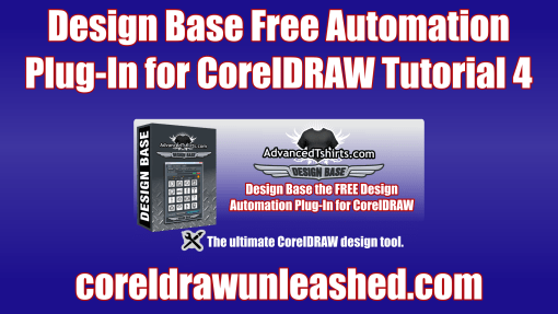 Design Base Free Automation Plug-In for CorelDRAW Tutorial 4