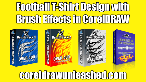 Football T-Shirt Design with Brush Effects in CorelDRAW Tutorial