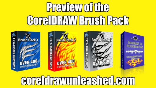 Preview of the CorelDRAW Brush Pack