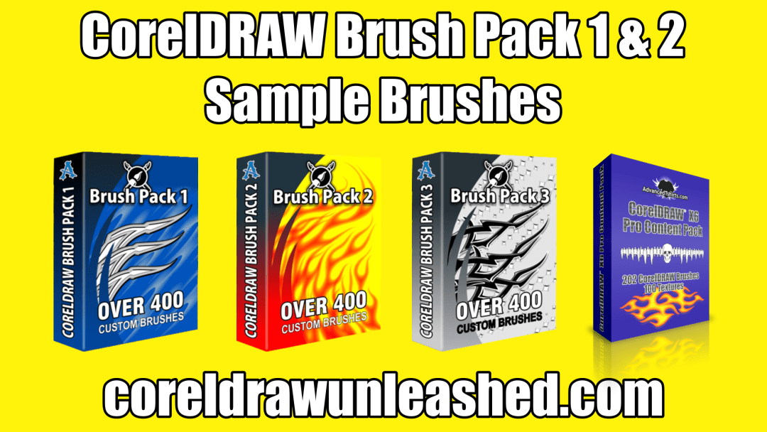 CorelDRAW Brush Pack 1 and 2 Sample Brushes