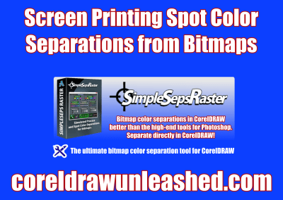 Screen Printing Spot Color Separations from Bitmaps