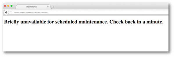 Briefly unavailable for scheduled maintenance.