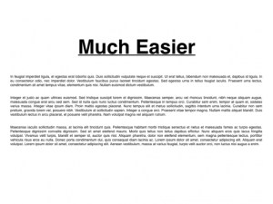 Easy to Read Blog Formatting