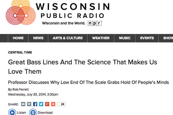 WPR: Great Bass Lines... Screengrab