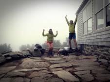 Fun Jumping at Madison Spring Hut