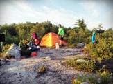 settin' up camp