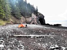 our tent site at Refugee Cove