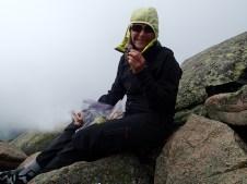 snacking on Mount Katahdin