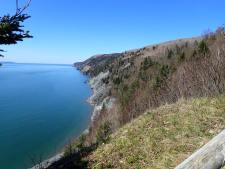 up the coast towards Cape Chignecto