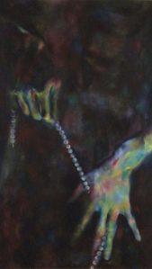 Hands and Pearls - Corey Okada painting
