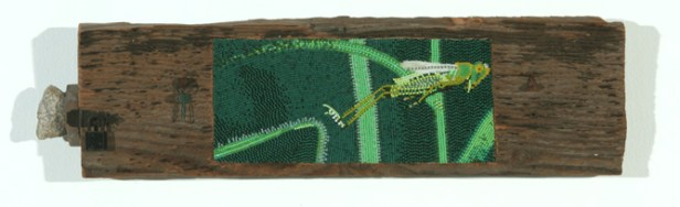 Friction, 2007, Seed beads and wood, 21 x 5.5 x 2 inches