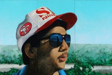 Alan Sano, 1995, Acrylic on wood, 48 x 96 inches