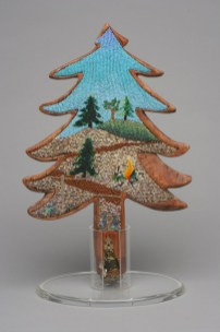 What Ain't To Be Just Might Happen, 2002, Seed beads and wood, 16 x 10 x 2 inches