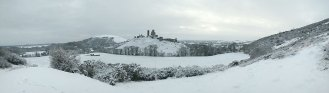 Corfe Castle - winter wonderland