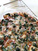 Spinach and Bacon Pizza