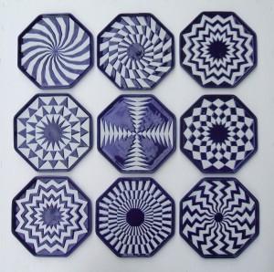 eindresultaat batik techniek