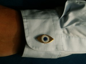 porseleinen manchetknoop oogjes