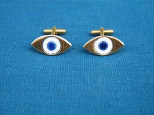 porseleinen manchetknopen oogjes
