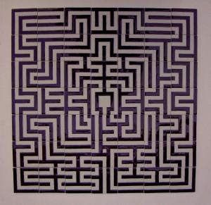 tegeltableau labyrint
