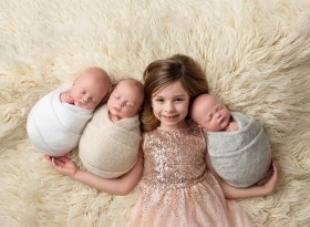 newborn triplets photo