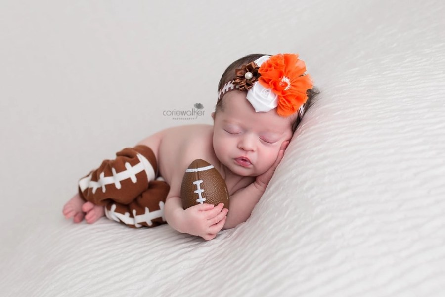 Browns Football Newborn Baby