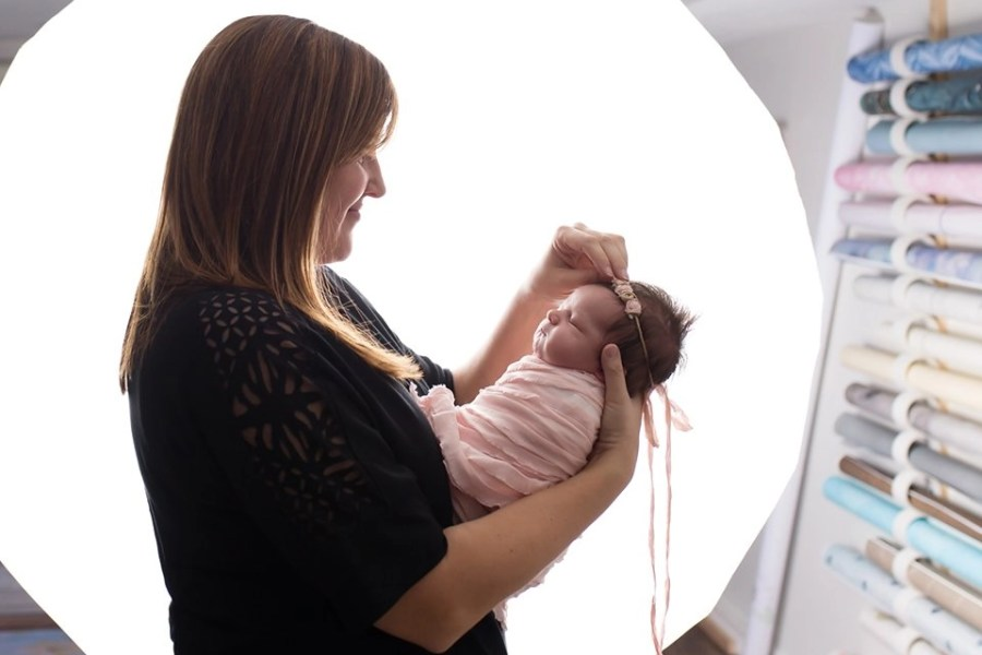 Peek Inside a Newborn Session