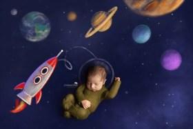 newborn in space astronaut