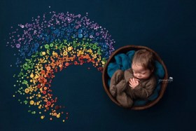 rainbow baby boy buttons
