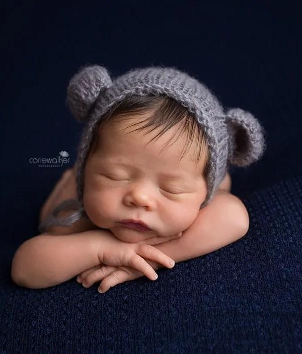 Kent Baby Photographer | Newborn Studio | Sweet Caleb