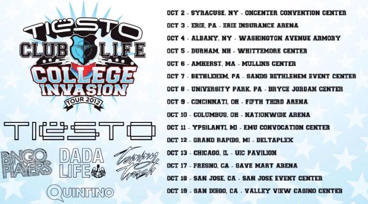 Tiesto tour dates in Australia