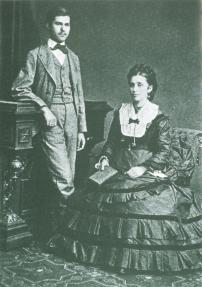 Sigmund Freud și mama sa Amalia Freud