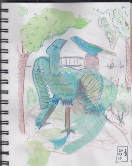 March20 drawing on watercolor in sketchbook