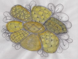 Aug16_zentangle inspired flower_yellow