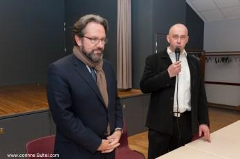 Mr le maire Christophe Robin présente Frédéric Lefebvre...