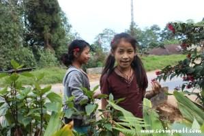 Girls in Ravangla, Sikkim, India
