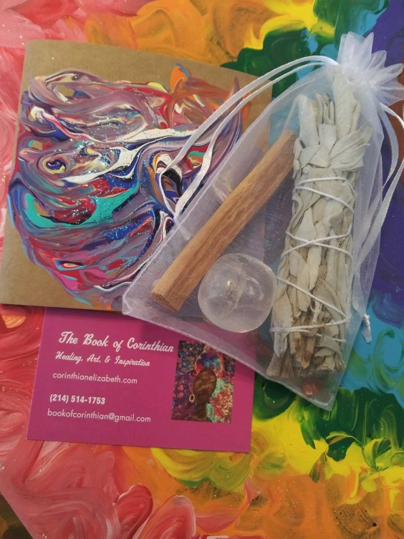 Healing Kit With Sage, Palo Santo, & Large Clear Quartz Crystal