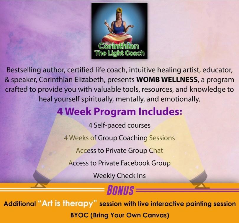 Womb Wellness 4 Week Program November 1st-30th
