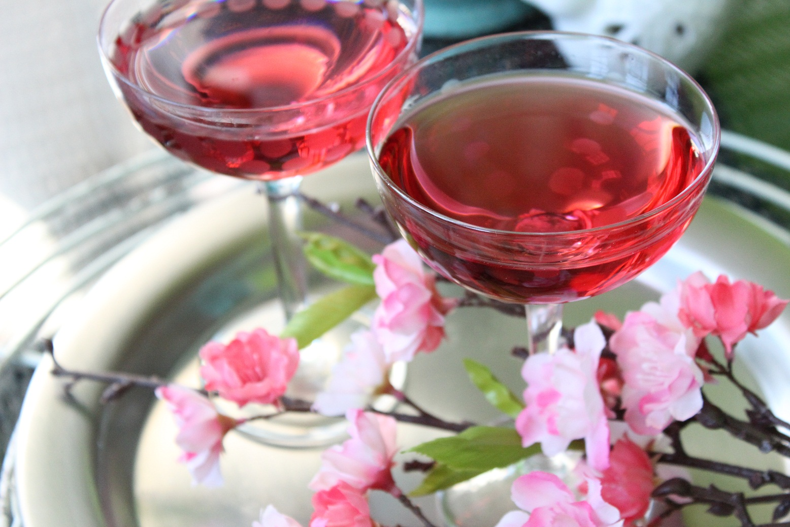 Cherry Blossom Martini  corkandspoon
