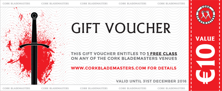 Cork Blademasters Gift Voucher