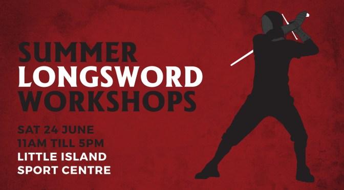 German Longsword Workshops this Saturday
