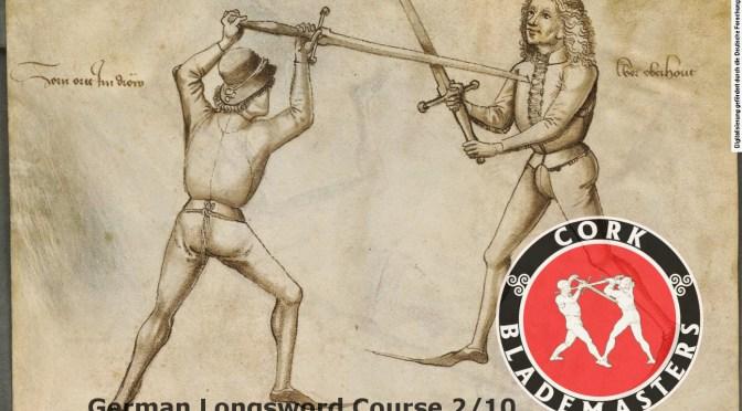 German Longsword Course 2/10 – Mon 02/10/2017