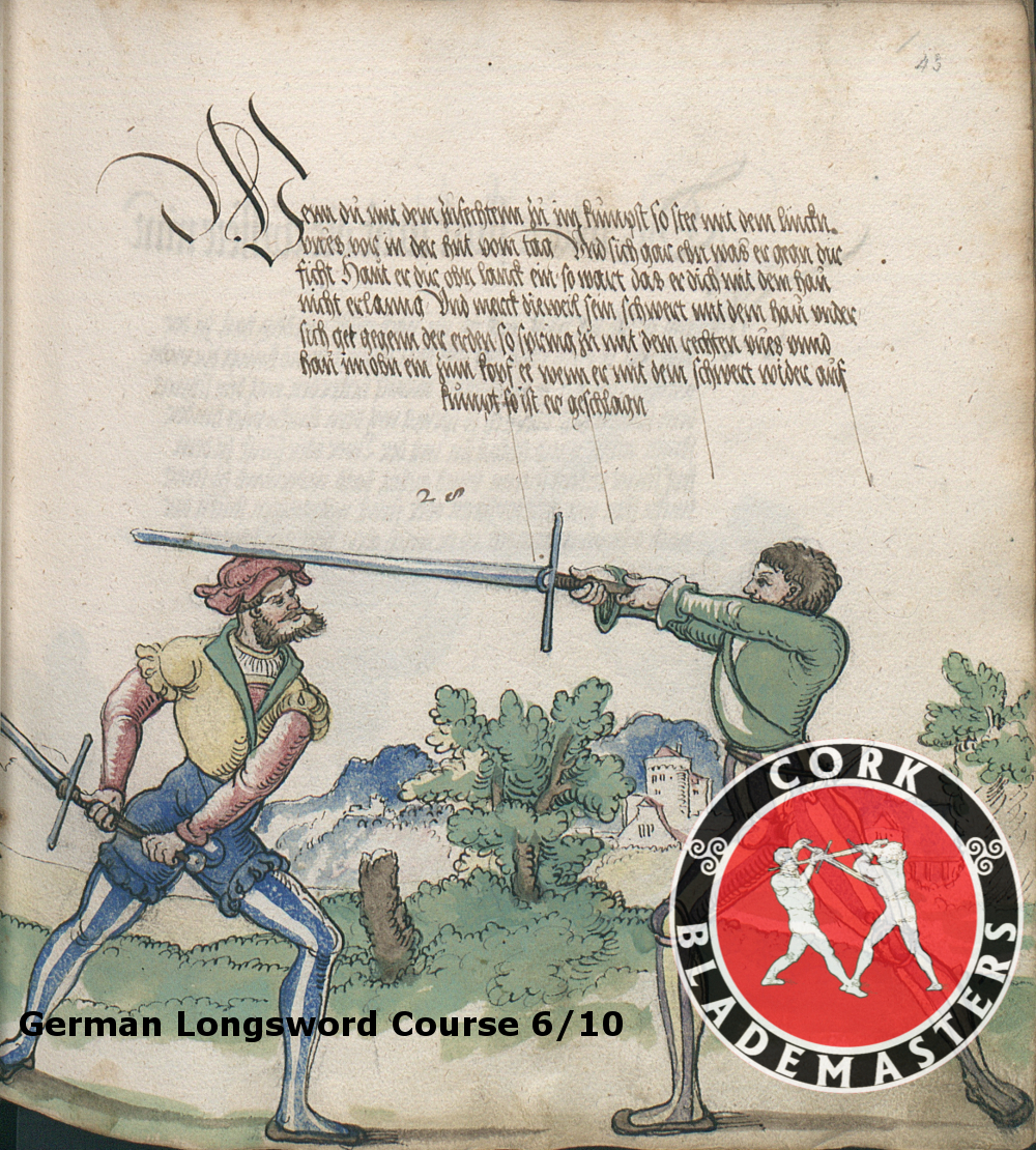 German Longsword Course 6/10 – Mon 20/11/2017