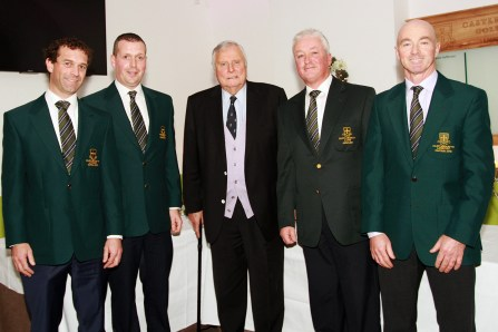 Honorary President Peter Alliss pictured with past captains Tony Loughnana, JP Twomey, Paul Sheehy and Tommy Hartnett at the Castlemartyr members evening with Peter Alliss. Picture: Niall O'Shea