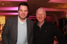 Matt Brooker and James Mills pictured at the Castlemartyr members evening with Peter Alliss. Picture: Niall O'Shea